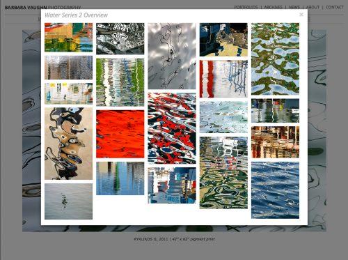 FuseLoft LLC - Barbara Vaughn fine art photography website Portfolios page masonry grid view for Water Series 2