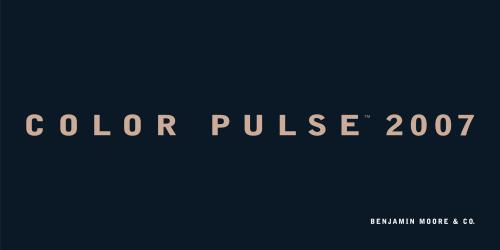 FuseLoft LLC - Benjamin Moore Color Pulse® 2007 color trend forecast branding series, silk-screen printed Neoprene book cover